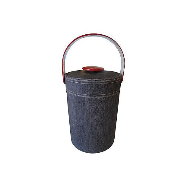 Georges Briard Faux Denim Ice Bucket - Image 3 of 4