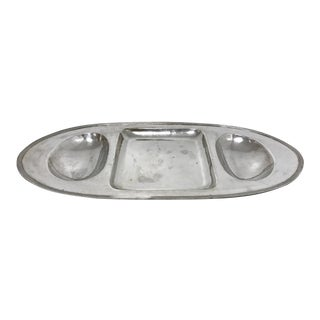 Porter Blanchard Silver Plated Hand Hammered Serving Tray