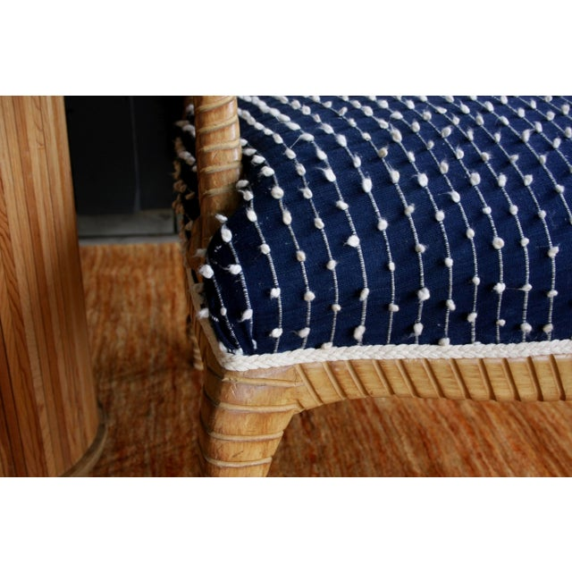 Newly Upholstered Rope & Tassel Armchairs, a Pair For Sale - Image 10 of 12