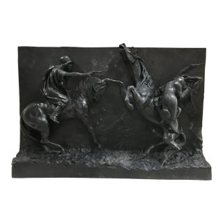 Rousseau Bronze Bas Relief Sculpture, 1906 For Sale