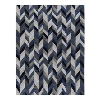 Stark Contemporary Flatweave Rug - 9′ × 12′