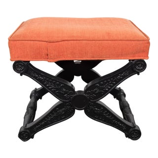 Baker Regency Style X-Base Stool For Sale