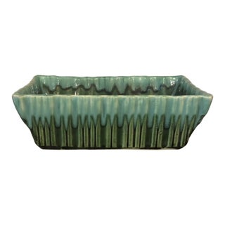 Mid Century Vintage Cookson 925 Green Planter For Sale