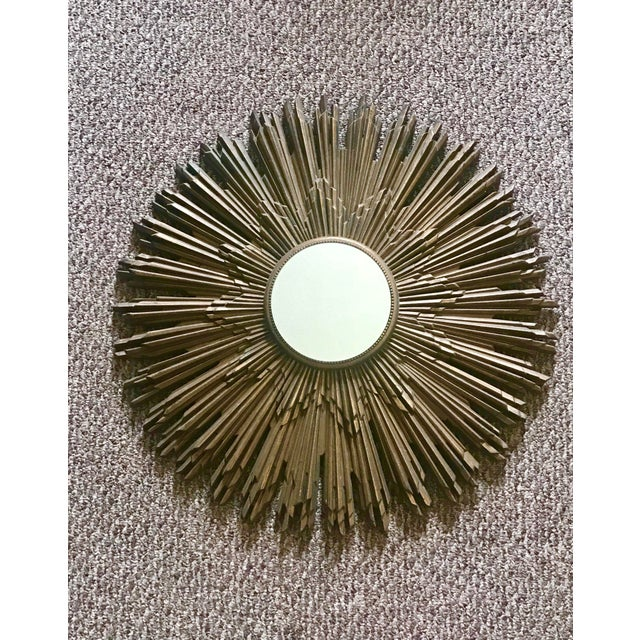 "This is a beautiful example of a true mid-century vintage mirror made in America labeled ""Burwood."" There are other..."