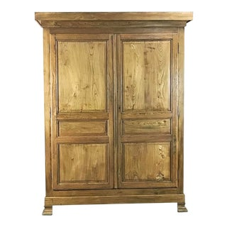 19th Century French Louis Philippe Pine Armoire For Sale