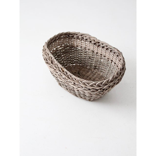 Antique Wicker Basket For Sale - Image 4 of 12