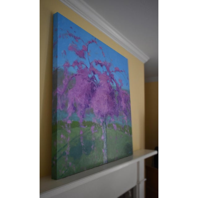 Weeping Cherry Tree Painting by Stephen Remick For Sale In Providence - Image 6 of 11