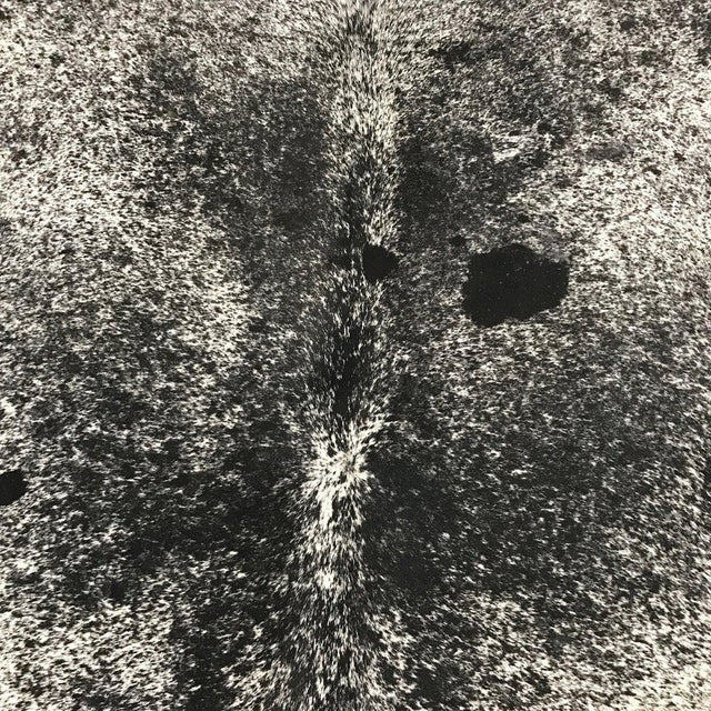 Black & White Speckled Cowhide Rug - Image 3 of 3