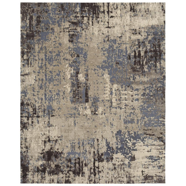 Contemporary Earth Elements - Customizable Gold Dust Rug (8x10) For Sale - Image 3 of 3