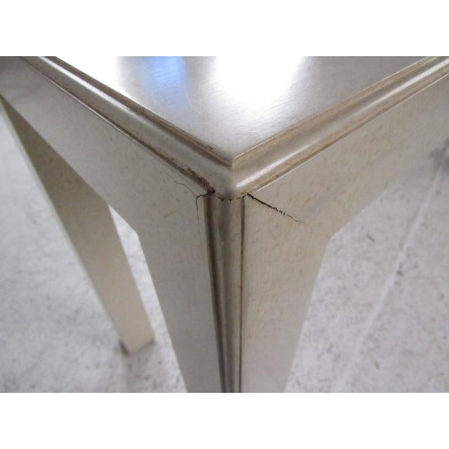 White Mid-Century Modern John Widdicomb Console Table For Sale - Image 8 of 9