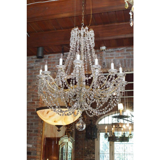 Antique French Crystal And Bronze 16-light Chandelier. For Sale - Image 9 of 9