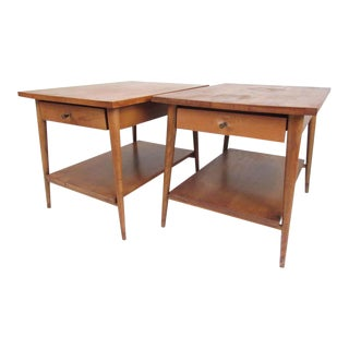 """Pair of Midcentury End Tables, Paul McCobb's """"Planner Group"""" Line For Sale"""