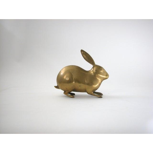 Large Vintage Brass Rabbit - Image 3 of 7