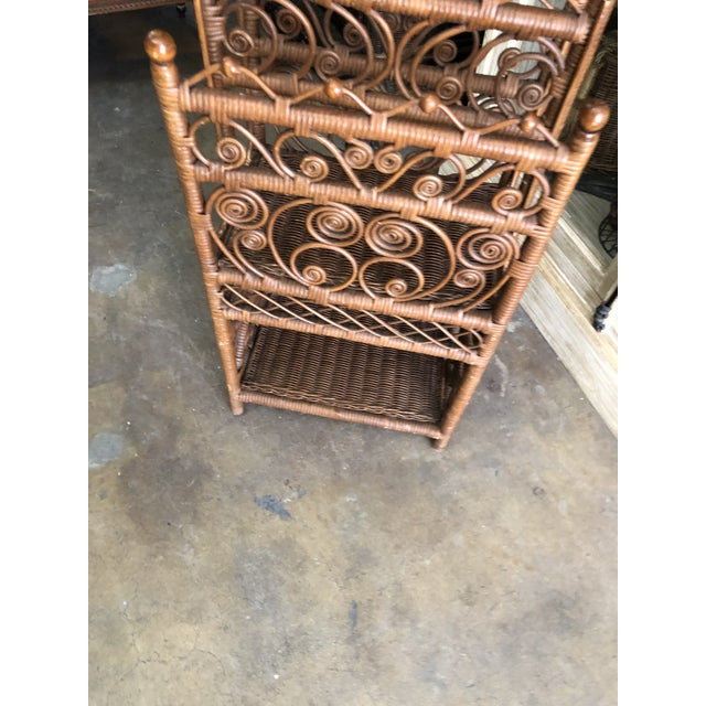 Cottage Bamboo & Rattan Magazine Holder For Sale - Image 3 of 6