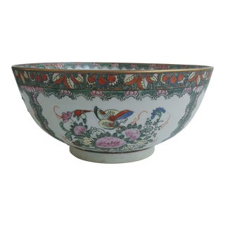 1970s Chinoiserie White Ironstone Decorative Bowl For Sale