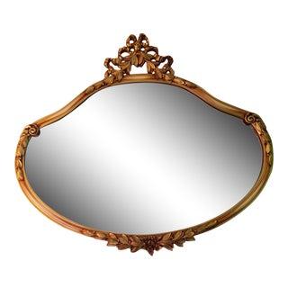 Vintage Gilt Bow Mirror