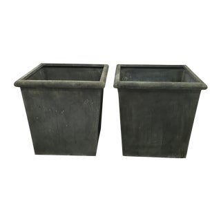 Pair of Large Zinc Planters by Nancy Corzine