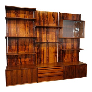 Brazilian Jacaranda Shelving Unit For Sale