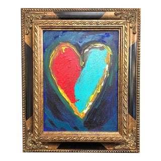 """Two Hearts Beating as One"" Framed Painting"