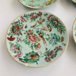 Antique Wucai Qing, Circa 1820, Chinese Porcelain Plates Celadon Glaze Hand-Painted Butterflies - Set of 4 Preview