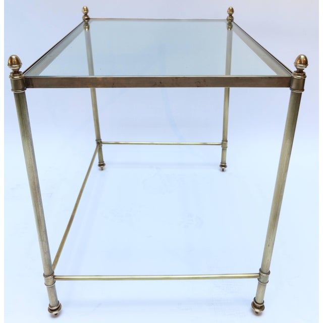 1960s Italian Brass Nesting Tables-Set of 3 For Sale In Los Angeles - Image 6 of 10