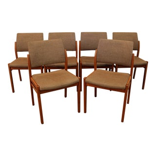Svegards Markaryd Danish Mid-Century Modern Teak Dining Chairs- Set of 6 For Sale