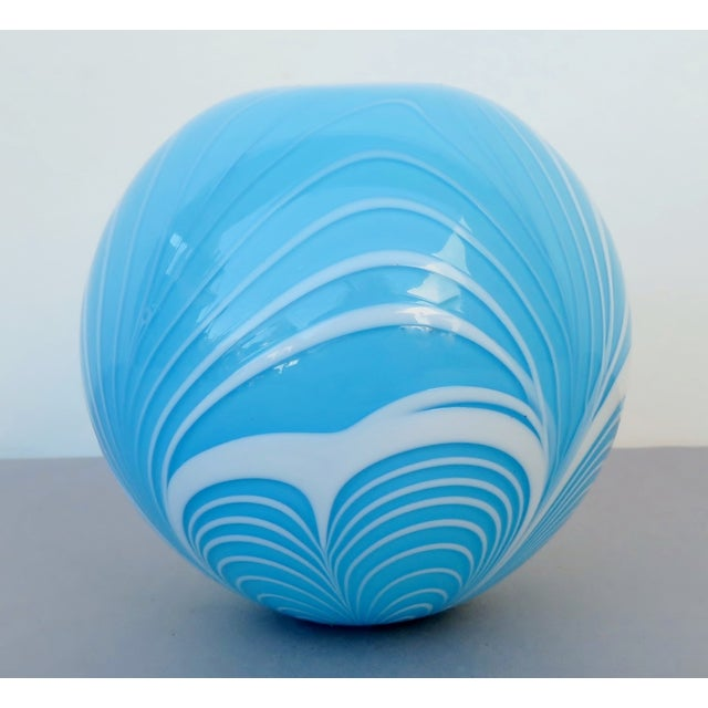 Tiffany Blue Blown Glass Witch Ball For Sale In Los Angeles - Image 6 of 6