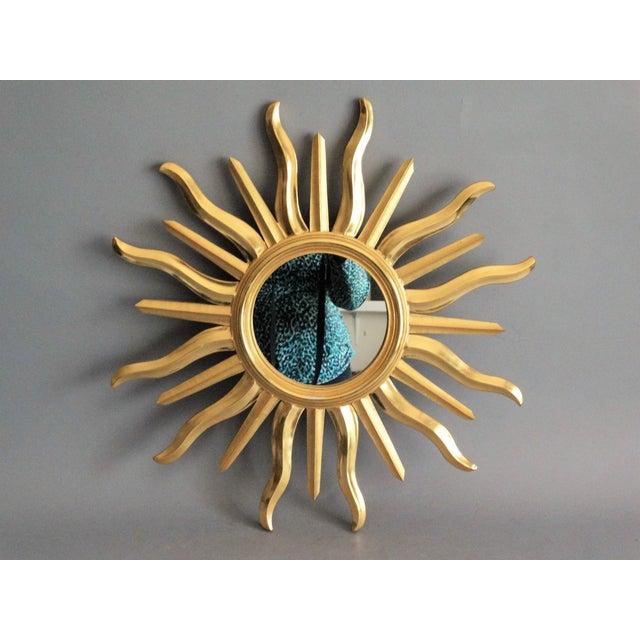 Mid Century Italian Sunburst Mirror For Sale - Image 10 of 10