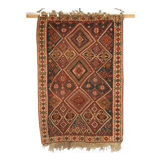 Circa1930 Persian Kilim Geometric Patterned Rug