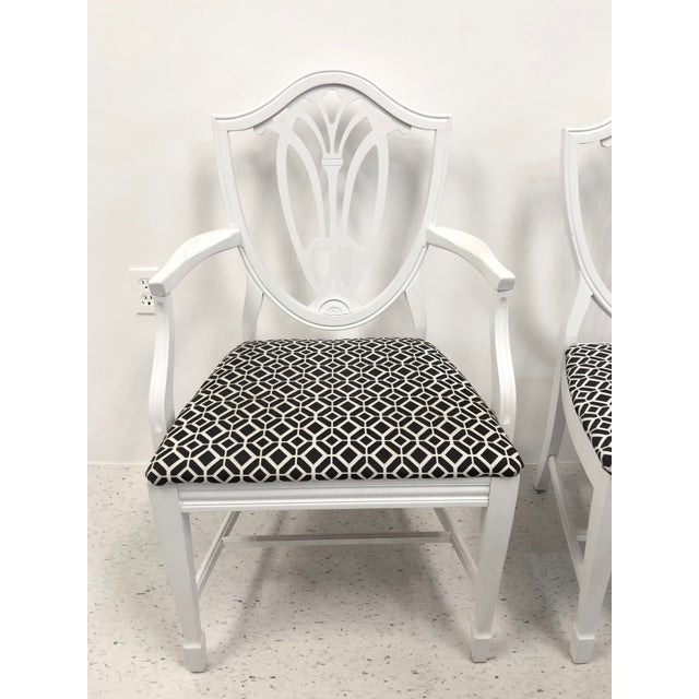 Bernhardt Chippendale Style White Lacquered Dining Chairs - Set of 6 For Sale In Buffalo - Image 6 of 9