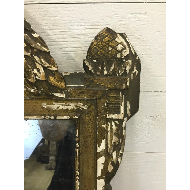 19th Century French Carved and Painted Mirror - Image 3 of 6