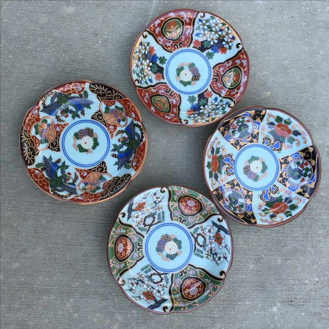 Vintage Japanese Porcelain Side Dishes - Set of 4 - Image 9 of 11