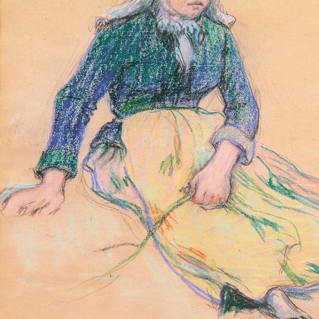 Crayon 'La Ramasseuse De Varech' by Claude Emile Schuffenecker, 1883; Young Bretonne Kelp Gatherer, Paul Gauguin For Sale - Image 7 of 13