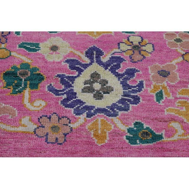 """Traditional Handwoven Turkish Oushak Rug - 8'2""""x10'7"""" For Sale In Dallas - Image 6 of 12"""