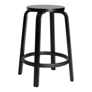 Authentic High Stool 64 Counter Stool in Black by Alvar Aalto & Artek For Sale