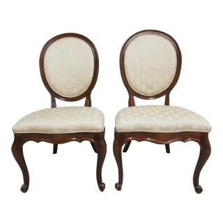 White Furniture Co. French Carved Dining / Side Chairs - a Pair For Sale