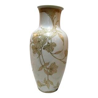 Kaiser Signed Floral Design Vase For Sale
