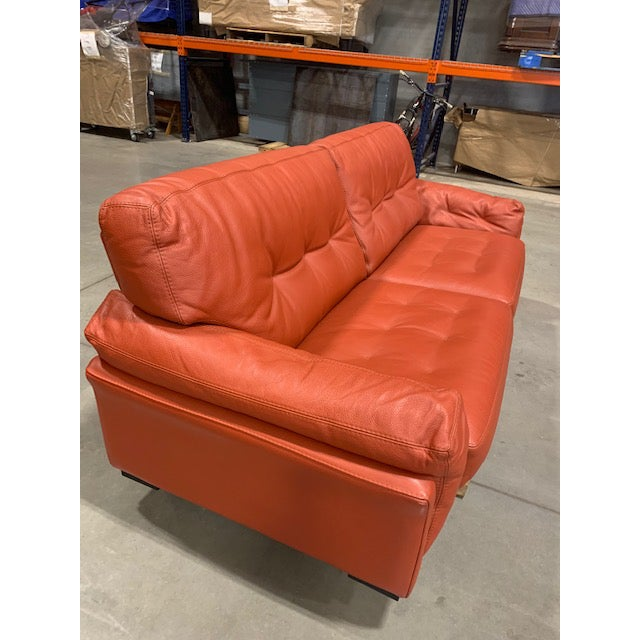 Roche Bobois Tomato Red Sleeper Sofa For Sale - Image 11 of 11
