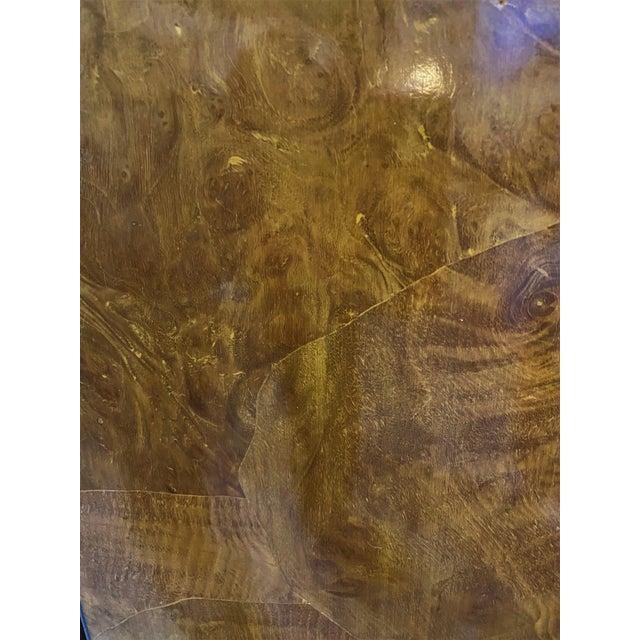 Wood Vintage Drexel Heritage Pedestals Burlwood Restored - a Pair For Sale - Image 7 of 11