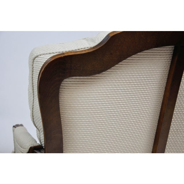 Pair of Vintage Queen Anne Wingback Chairs For Sale - Image 9 of 13