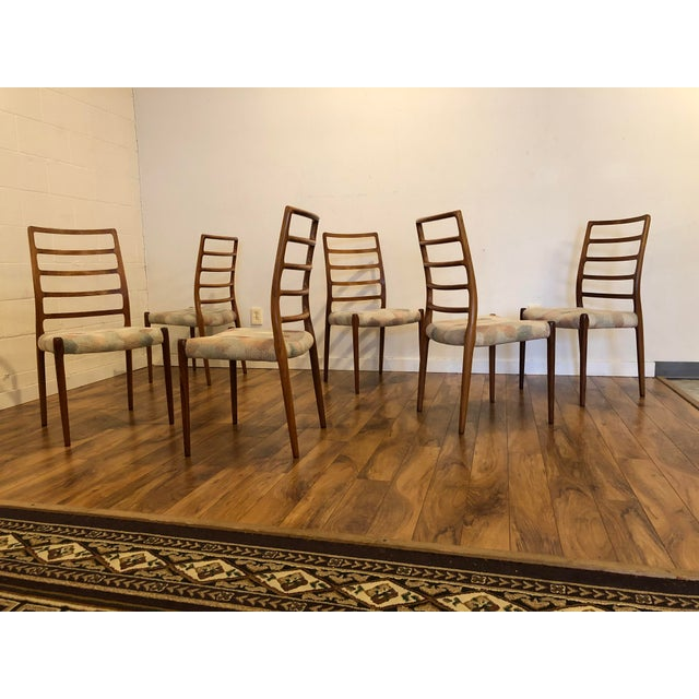1960s Rosewood Model 82 Dining Chairs by Niels Otto Møller for j.l. Møllers Møbelfabrik - Set of 6 For Sale - Image 5 of 13