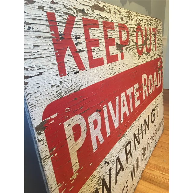 1960s Vintage 'Keep Out' Sign - Image 3 of 6