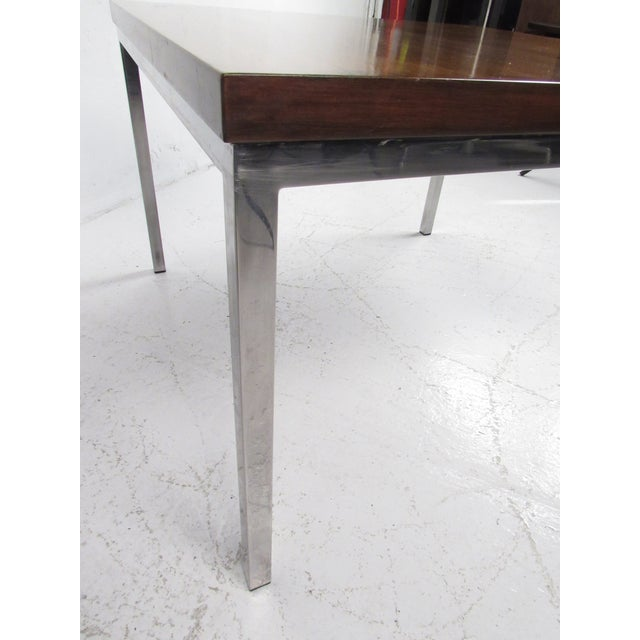 Metal Milo Baughman Style Coffee Table For Sale - Image 7 of 12