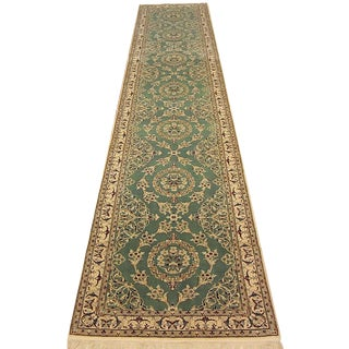 Shiraz - Floral Persian Naein Runner Rug - 2'11''×13'3'' For Sale