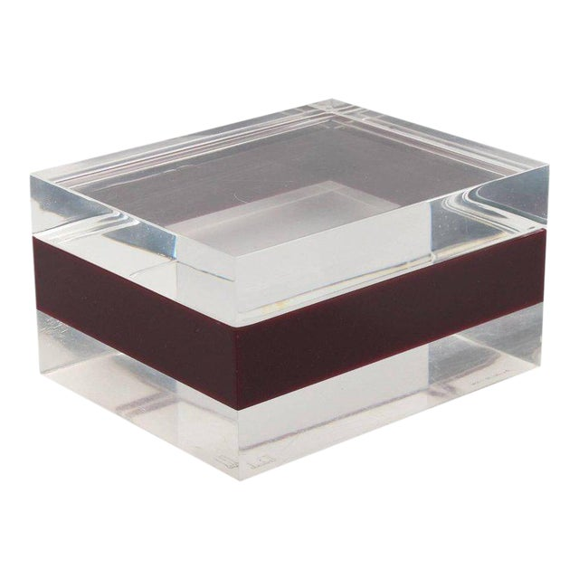 Dunhill England 1970s Mid-Century Bi-Color Lucite Box For Sale