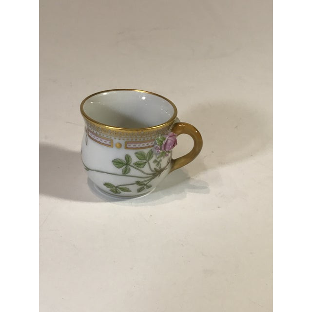 Metal Royal Copenhagen Flora Danica Demitasse With Lid and Saucer Butter Cup For Sale - Image 7 of 13