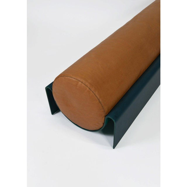 Contemporary Asa Pingree Monitor Fiberglass Upholstered Bench in Leather, Limited Edition of 10 For Sale - Image 3 of 5