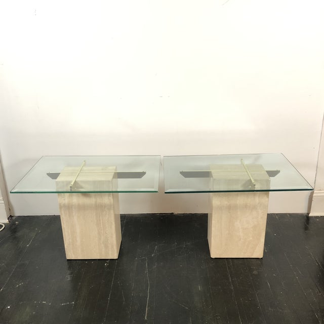 1970s 1970s Artedi Italian Marble Side Tables - a Pair For Sale - Image 5 of 13
