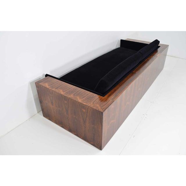 Milo Baughman Milo Baughman for Thayer Coggin Rosewood Case Sofa in Maharam Mohair For Sale - Image 4 of 13