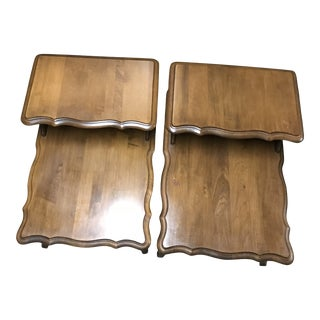 Vintage Two-Tier Telephone Tables - A Pair For Sale